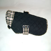 Black Check Dog Quilted Jacket